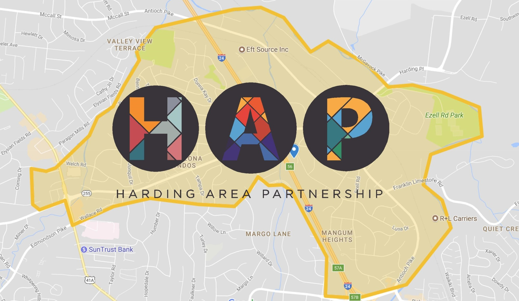 Harding Area Partnership Map